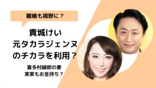 喜多村緑郎って誰?妻である貴城けいとの関係は良好だけど離婚はある?