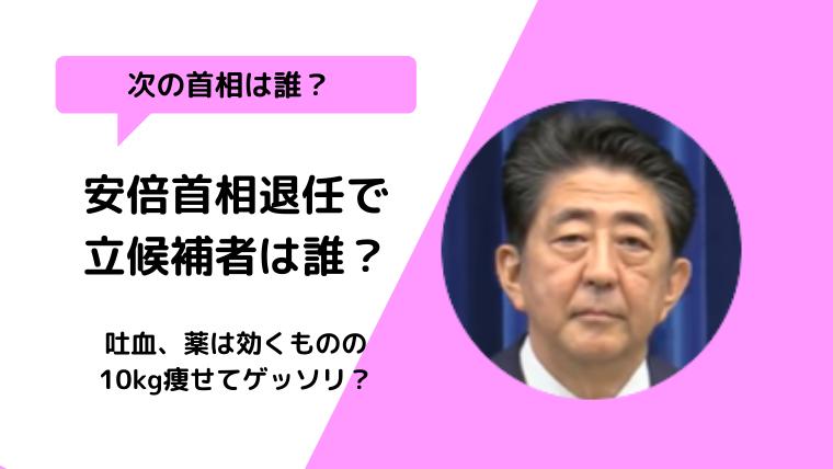 持病再発で安倍首相辞任!時期総理大臣の立候補者は誰?石破vs菅?