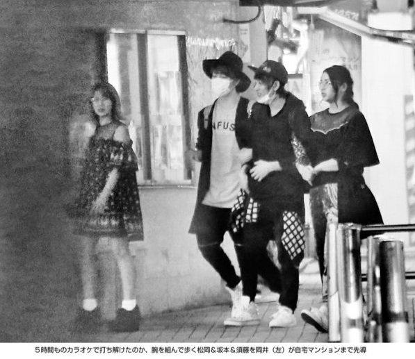 ℃-ute」の岡井千聖と「Berryz工房」の須藤茉麻