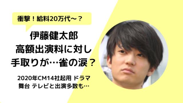 伊藤健太郎の年収は?高額出演料でギャラ給料は20万で借金で移籍?