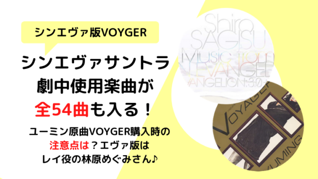 【シンエヴァ/サントラ】ユーミンの挿入歌VOYAGERも入る?注意点は?