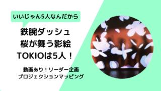 【動画】鉄腕ダッシュ桜の影絵5人のトリック仕掛けは光?長瀬の言葉に納得